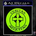 Boondock Saints Veritas Aequitas D3 Decal Sticker Lime Green Vinyl 120x120