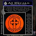 Boondock Saints Veritas Aequitas D3 Decal Sticker Orange Emblem 120x120