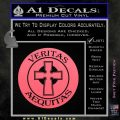 Boondock Saints Veritas Aequitas D3 Decal Sticker Pink Emblem 120x120