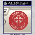Boondock Saints Veritas Aequitas D3 Decal Sticker Red 120x120