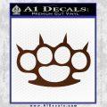 Brass Knuckles Spiked Decal Sticker BROWN Vinyl 120x120