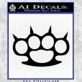 Brass Knuckles Spiked Decal Sticker Black Vinyl 120x120