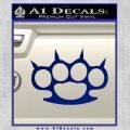 Brass Knuckles Spiked Decal Sticker Blue Vinyl 120x120