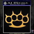 Brass Knuckles Spiked Decal Sticker Gold Vinyl 120x120