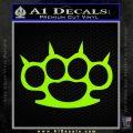 Brass Knuckles Spiked Decal Sticker Lime Green Vinyl 120x120