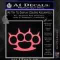 Brass Knuckles Spiked Decal Sticker Pink Emblem 120x120