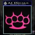 Brass Knuckles Spiked Decal Sticker Pink Hot Vinyl 120x120