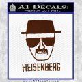Breaking Bad Heisenberg Decal Sticker BROWN Vinyl 120x120