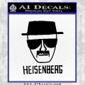 Breaking Bad Heisenberg Decal Sticker Black Vinyl 120x120
