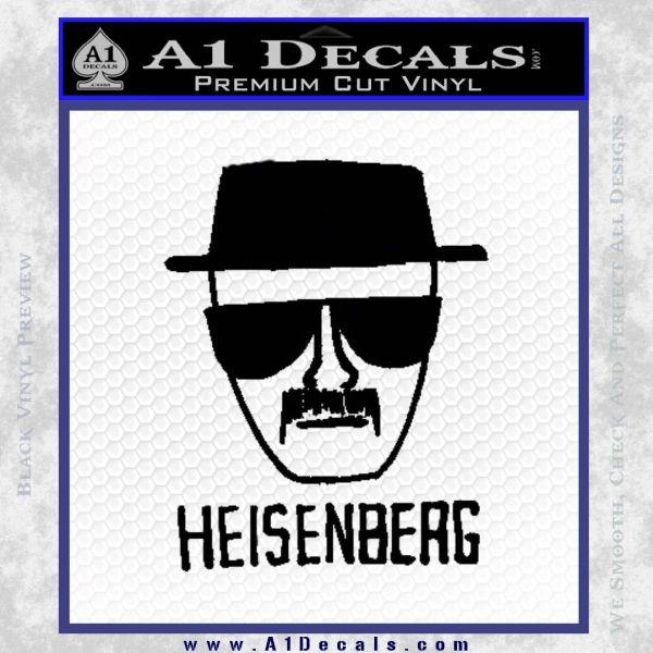 Breaking Bad Heisenberg Decal Sticker Black Vinyl