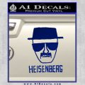 Breaking Bad Heisenberg Decal Sticker Blue Vinyl 120x120
