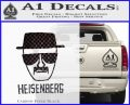 Breaking Bad Heisenberg Decal Sticker Carbon FIber Black Vinyl 120x97