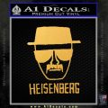 Breaking Bad Heisenberg Decal Sticker Gold Vinyl 120x120