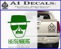 Breaking Bad Heisenberg Decal Sticker Green Vinyl Logo 120x97