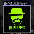 Breaking Bad Heisenberg Decal Sticker Lime Green Vinyl 120x120