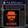 Breaking Bad Heisenberg Decal Sticker Orange Emblem 120x120