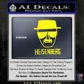 Breaking Bad Heisenberg Decal Sticker Yellow Laptop 120x120
