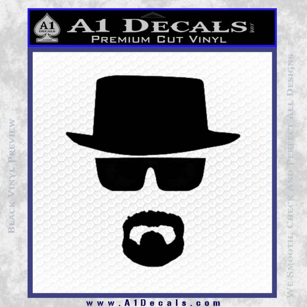 Breaking bad walter white decal sticker black vinyl