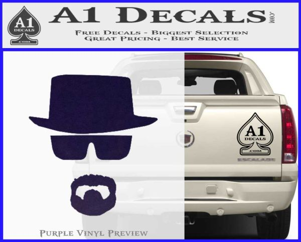 Breaking Bad Walter White Decal Sticker A1 Decals