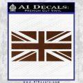 British Flag Decal Sticker BROWN Vinyl 120x120