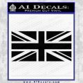 British Flag Decal Sticker Black Vinyl 120x120