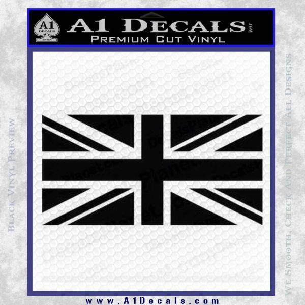 British Flag Decal Sticker Black Vinyl