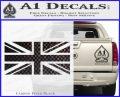 British Flag Decal Sticker Carbon FIber Black Vinyl 120x97