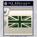 British Flag Decal Sticker Dark Green Vinyl 120x120
