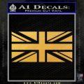 British Flag Decal Sticker Gold Vinyl 120x120