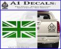 British Flag Decal Sticker Green Vinyl Logo 120x97