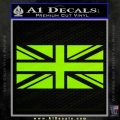 British Flag Decal Sticker Lime Green Vinyl 120x120