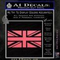 British Flag Decal Sticker Pink Emblem 120x120
