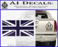 British Flag Decal Sticker PurpleEmblem Logo 120x97