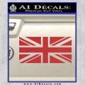 British Flag Decal Sticker Red 120x120