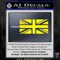 British Flag Decal Sticker Yellow Laptop 120x120