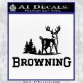 Browning D3 Decal Sticker Black Vinyl 120x120