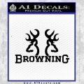 Browning Decal Sticker D1 Black Vinyl 120x120
