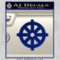 Buddhist Wheel Symbol Decal Sticker Blue Vinyl 120x120