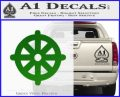 Buddhist Wheel Symbol Decal Sticker Green Vinyl Logo 120x97