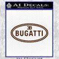 Bugatti D1 Decal Sticker BROWN Vinyl 120x120