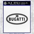 Bugatti D1 Decal Sticker Black Vinyl 120x120
