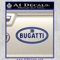 Bugatti D1 Decal Sticker Blue Vinyl 120x120