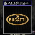 Bugatti D1 Decal Sticker Gold Vinyl 120x120