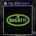Bugatti D1 Decal Sticker Lime Green Vinyl 120x120