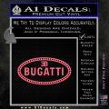 Bugatti D1 Decal Sticker Pink Emblem 120x120