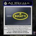 Bugatti D1 Decal Sticker Yellow Laptop 120x120