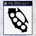 California Brass Knuckles Decal Sticker Black Vinyl 120x120
