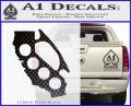 California Brass Knuckles Decal Sticker Carbon FIber Black Vinyl 120x97