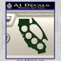 California Brass Knuckles Decal Sticker Dark Green Vinyl 120x120