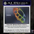 California Brass Knuckles Decal Sticker Glitter Sparkle 120x120